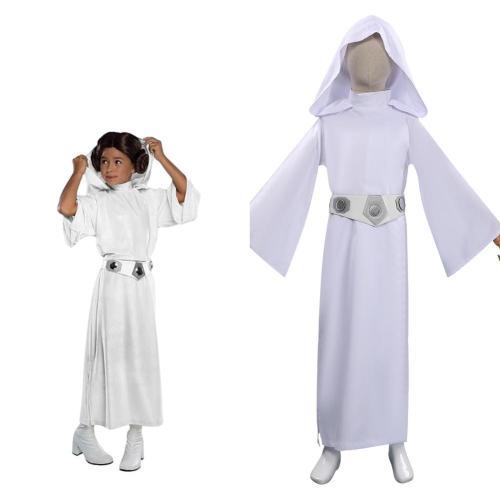 Kinder Star Wars Prinzessin Leia Kostüm Cosplay Halloween Karneval Kostüm