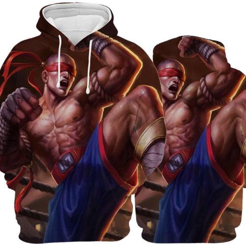 League of Legends LOL Herren Hoodie Yasuo Riven Liqing Wukong Hoodie Pullover mit Kaputze für Alltag