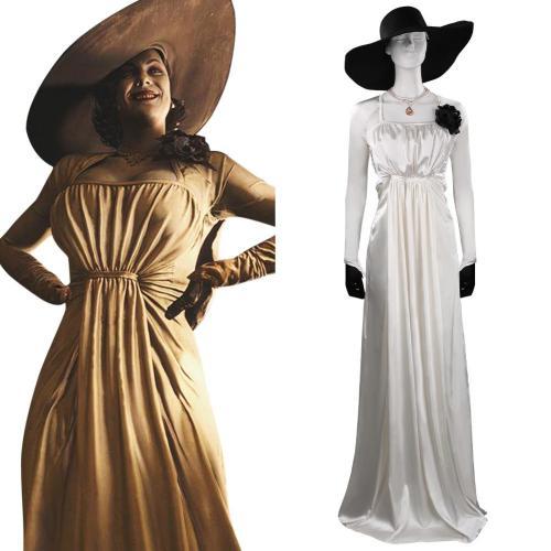 Resident Evil Village Alcina Dimitrescu Cosplay Kostüm Halloween Karneval Outfits
