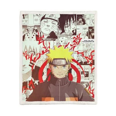 Naruto Decke Namikaze Minato 3D Druck Sherpa Zudecke Kuscheldecke 150*200cm