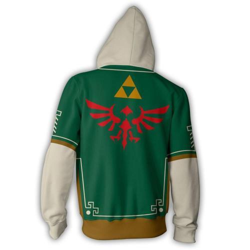 The Legend of Zelda Cosplay Hoodie 3D Druck Sweatshirt Erwachsene Pullover mit Kaputze Jacke für ALLTAG