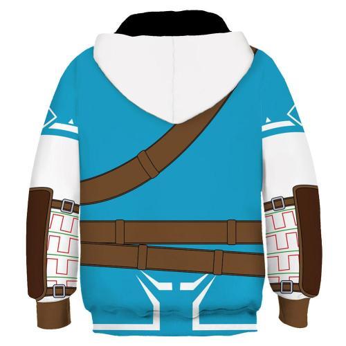 Kinder The Legend of Zelda Link Hoodie 3D Druck Kinder Sweatshirt Pullover mit Kaputze