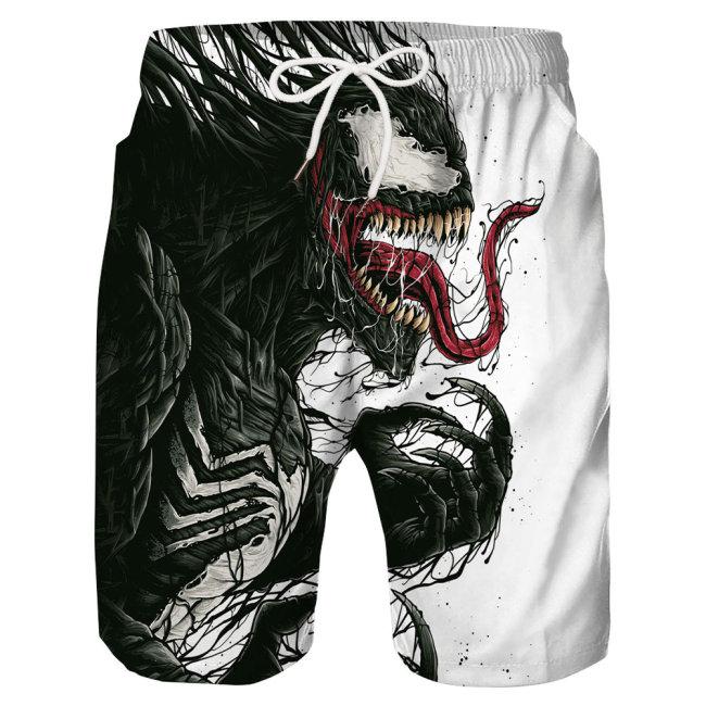 Herren Venom Shorts Hose Badehose Freizeithose Jogginghose Sporthose Jogger Badeshorts für Alltag