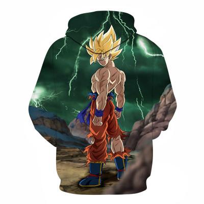 Dragon Ball Z Hoodie Son-Goku Vegeta Son-Goten Broly Piccolo Pulli für Erwachsene Kaputzenpullover