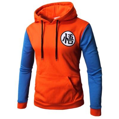 Dragon Ball Pullover mit Kaputze Hooded Pulli für Erwachsene Unisex Sweatshirt