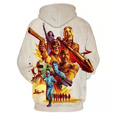 The Suicide Squad Hoodie Pullover mit Kaputzen Unisex Pulli für Alltag