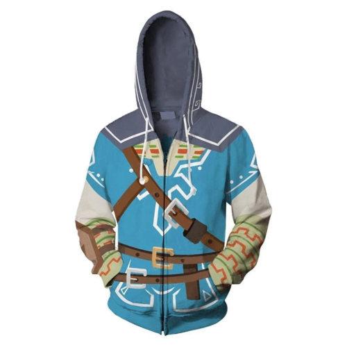 The Legend of Zelda 3D Druck Hoodie Sweatshirt Jacke Erwachsene Unisex Jacke mit Kaputze für Alltag