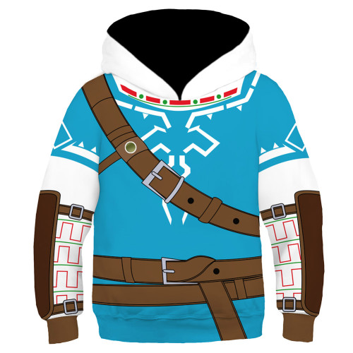 Kinder The Legend of Zelda Link Hoodie 3D Druck Kinder Sweatshirt Pullover mit Kaputze