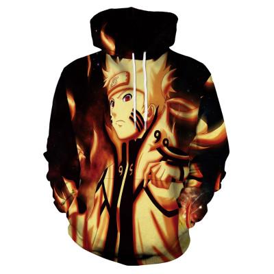 NARUTO Unisex Hoodie Uzumaki Naruto Sasuke Uchiha Hoodie Kaputzenpullover für Erwachsene