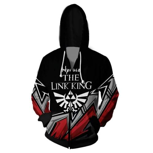The Legend of Zelda Cosplay Hoodies 3D Druck Hooded Sweatshirts Jacke für Erwachsene Unisex