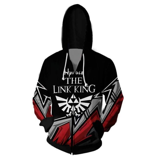The Legend of Zelda Cosplay Hoodies 3D Druck Hooded Sweatshirts Jacke für Erwachsene Unisex