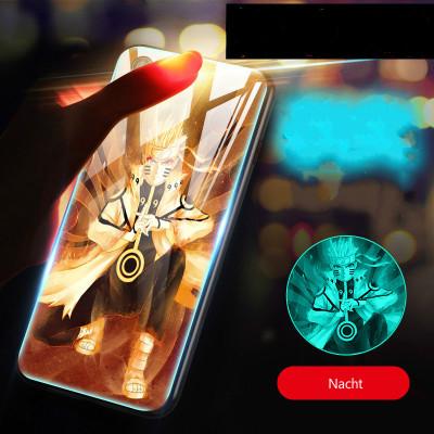 Naruto Huawei Handyhülle Naruto Uzumaki Handyhülle TPU Glas Hülle Beleuchtend Hülle
