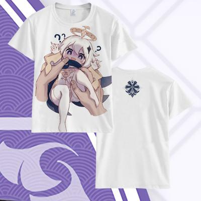 Genshin Impact Sommer T-Shirt Rundhals Kurzarm T-Shirt Erwachsene Unisex T- Shirt NEU