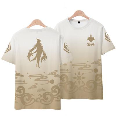 Genshin Impact Sommer T-Shirt Rundhals Kurzarm T-Shirt Erwachsene Unisex T- Shirt