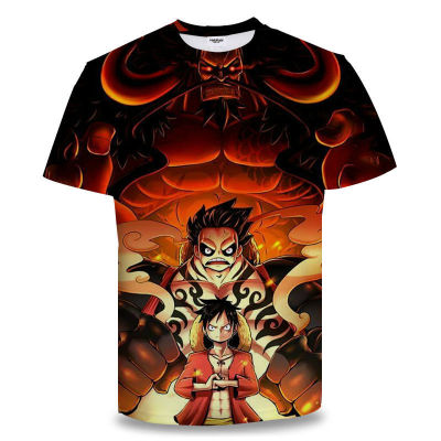 One Piece Sommer T-Shirt Rundhals Kurzarm T-Shirt Erwachsene Unisex T- Shirt NEU