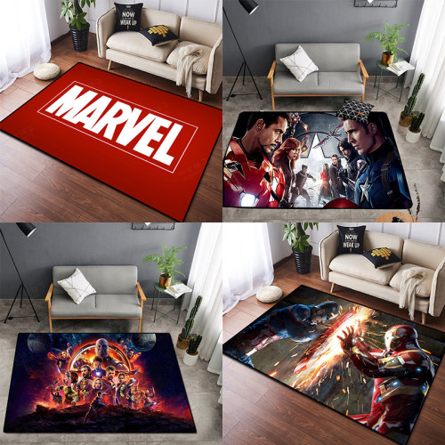 Avengers Captain America Spider man Iron Man Black Widow Fußmatten Maße 50*80cm