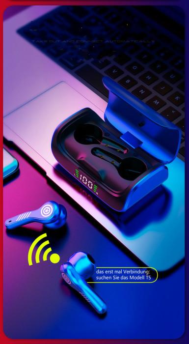 Bluetooth 5.0 Kopfhörer in Ear Marvel Iron Man Captain America Black Panther
