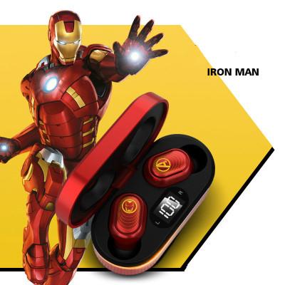 Bluetooth 5.0 Kopfhörer in Ear Iron Man Captain America Black Widow Spider Man Kopfhörer