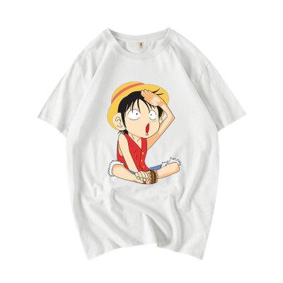 ONE PIECE Luffy Zorro Tony Tony Chopper T Shirt Sommer Rundhals Kurzarm Baumwolle T-Shirt