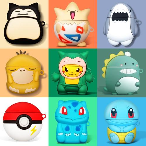 Hülle für AirPods Kopfhörertasche Apple Airpods 1 & 2 & 3-Schutzhülle Pokemon