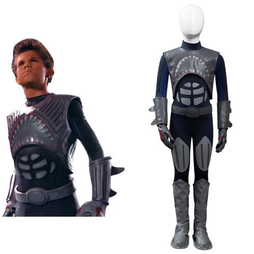 Kinder The Adventures of Sharkboy and Lavagirl in 3D Sharkboy Cosplay Kostüm Outfits Halloween Carnival Jumpsuit