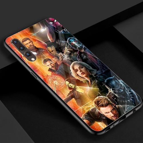 Huawei Handyhülle Avengers Handyhülle TPU Glas Hülle HWP30