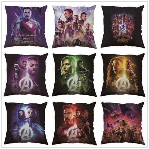 Avengers Kissenbezug Kopfkissen Sitzkissen Plüsche Kissen Dekoration Iron Man Captain America Kissen