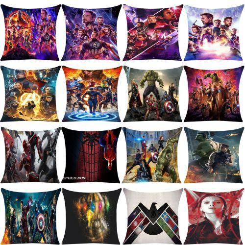 Avengers Kissenbezug Plüsche Kissen Dekoration Iron Man Captain America Kissen Thor Captain Marvel
