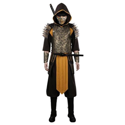 Mortal Kombat Scorpion Hanzo Hasashi Cosplay Kostüme Halloween Karneval Outfits