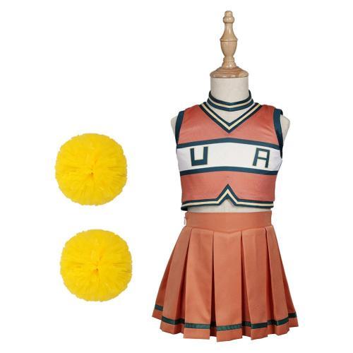Kinder My Hero Academia Cheerleaderuniform Asui Tsuyu/Ochaco Uraraka Cosplay Kostüme Outfits Halloween Karneval Suit