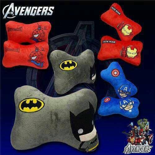 Avengers Kissen Kopfkissen Nackenkissen für Autositz 1 paar Set