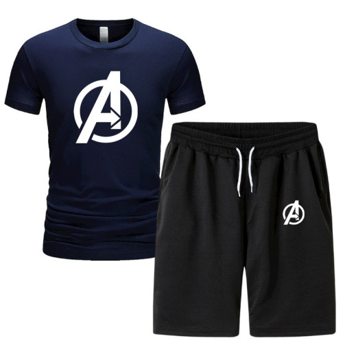Avengers T-Shirt Shorts Set Unisex Erwachsene T Shirt Sommer Sportbekleidung Set