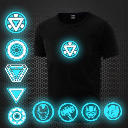 Avengers Superhelden T-Shirt Herren T-Shirt Rundhals Kurzarm beleuchtet T-Shirt