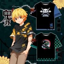 Demon Slayer Kimetsu no Yaiba T-Shirt Tanjirou Zenitsu Inosuke Sommer T-Shirt Erwachsene