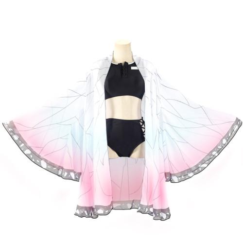 Demon Slayer Bikini Damen Kochou Shinobu Bikini Sommer Bikini 3lg