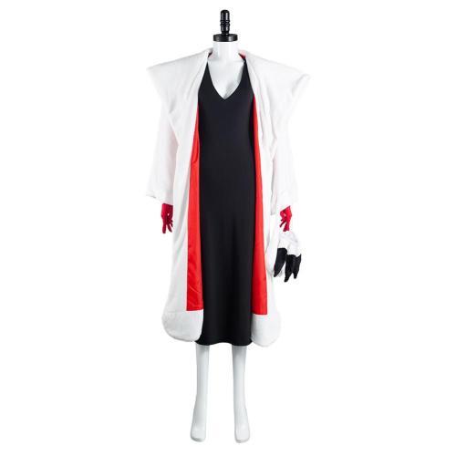 Cruella De Vil Cruella Mantel Kostüm Cosplay Halloween Karneval Outfits