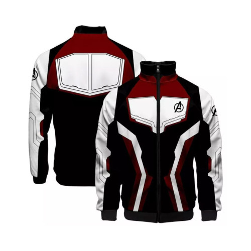Avengers 4 Endgame Hoodie Quantenreich Suit Quantum Realm Suit Jacke mit Stehkragen Kostüm für Erwachsene