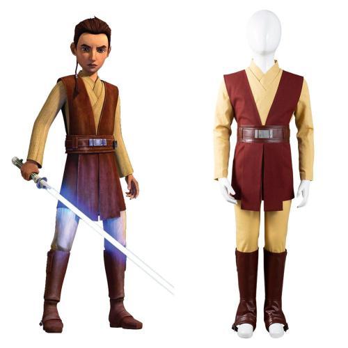 Star Wars The Bad Batch Kinder Caleb Dume Kostüm Cosplay Jedi Knight Halloween Karneval Outfits