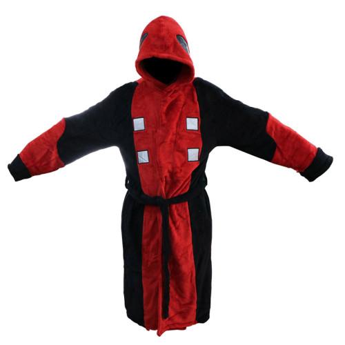 Badeanzug Deadpool Schlafanzug Plüsche Robe Mantel Erwachsene Pajamas