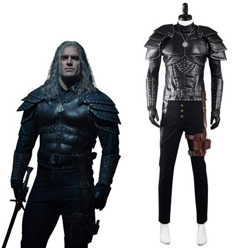 The Witcher Geralt of Rivia Cosplay Kostüme Outfits Halloween Karneval Suit