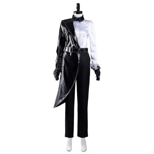 Cruella Cosplay Kostüm Black White Hemd Mantel Pants Outfits Halloween Karneval Suit