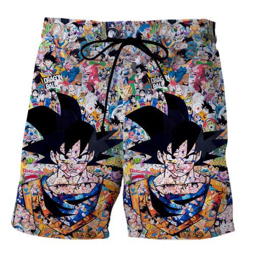 Dragon Ball & One Piece Shorts Hose Badehose Freizeithose Jogginghose Sporthose Jogger Badeshorts für Alltag