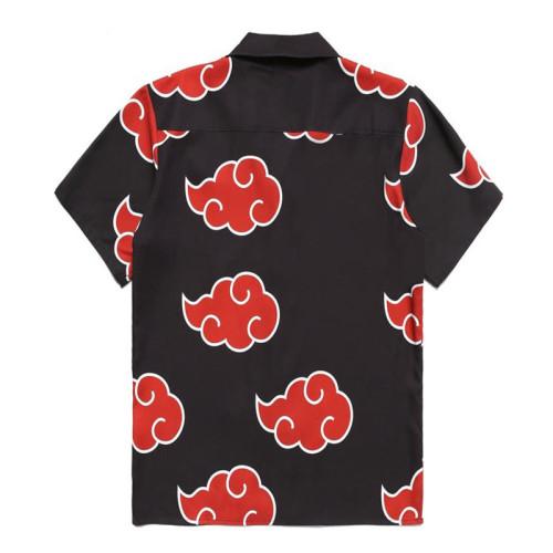 NARUTO T-Shirt Hemd Oberteil Kurzarm Akatsuki Hemd Erwachsene