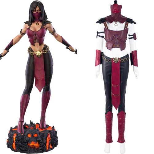 Mortal Kombat 10 Mileena Cosplay Kostüme Outfits Halloween Karneval Suit