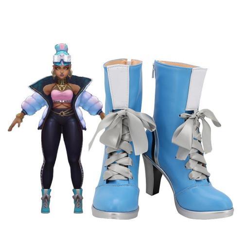 League of Legends LOL TRUE DAMAGE Qiyana Stiefel Cosplay Schuhe
