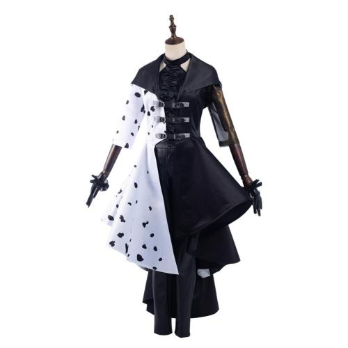Cruella 2021 Cruella Cosplay Kostüm Kleid Outfits Halloween Karneval Set