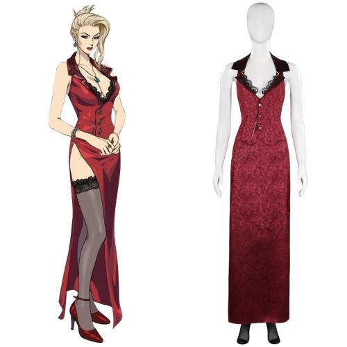Final Fantasy VII FF7 Remake Scarlett Cosplay Kostüm Outfits Halloween Karneval Kleid