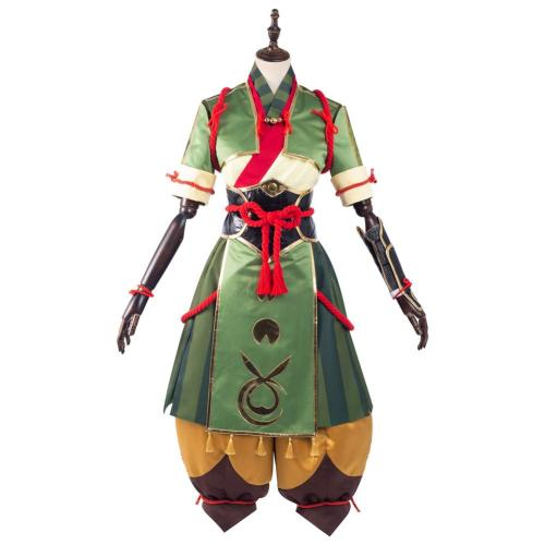 Monster Hunter Rise Yomogi Cosplay Kostüm Kleid Halloween Karneval Set
