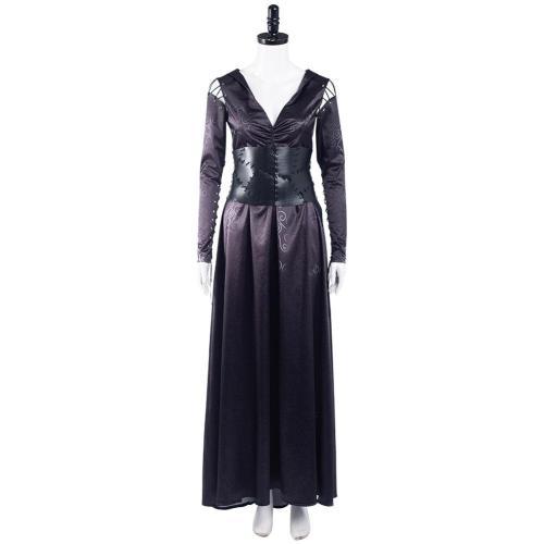 Harry Potter Bellatrix Lestrange Cosplay Kostüm Halloween Karneval Kleid