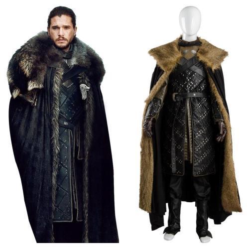 GOT Game of Thrones Staffel 8 S8 Stark Night's Watch Jon Snow Jon Schnee Cosplay Kostüm